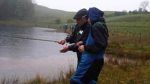 Pupils try fly fishing