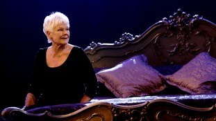 Dame Judi Dench prepares for this evening's celebrations.