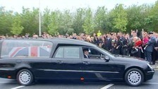 Funeral cortege carrying the body of Corporal Andrew Roberts