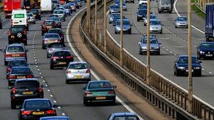 Busy motorway.