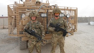 Soldiers at the Main Operating Base, Lashkar Gah, in Helmand Province