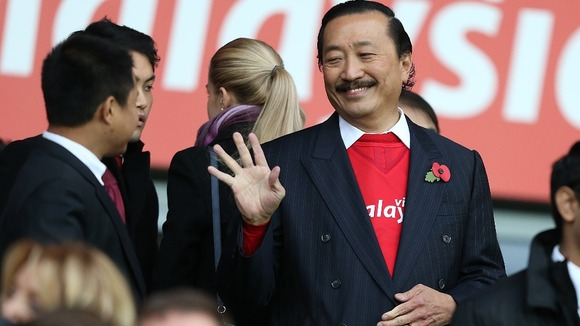 Obligatory picture of Cardiff owner Vincent Tan looking suave