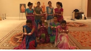 Traditional dancers celebrate Diwali