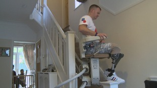 Soldier on stair lift