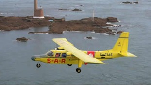 Lion's Pride, the Channel Islands Air Search aircraft that crash landed in Jersey this evening.
