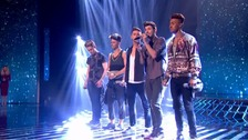 "Boy band Kingsland Road were voted off the X Factor tonight - with judge Gary Barlow complaining that the public had ""got it wrong""."