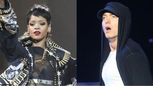 Rihanna and Eminem have scored this week's number one single.