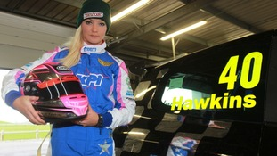 female racing driver
