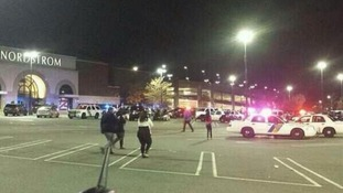Shoppers fell amid reports of a gunman inside Westfield Garden State Plaza Mall in Paramus, New Jersey.