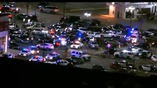 The scene outside Westfield Garden State Plaza Mall in Paramus, New Jersey.