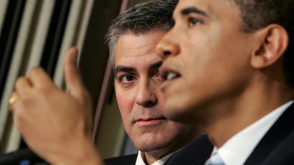 George Clooney and Barack Obama.