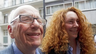 News Corporation CEO Rupert Murdoch with Rebekah Brooks