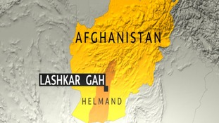 The soldier was killed in the Kamparak area, 40km north east of the provincial capital Lashkar Gah