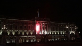 Fireworks fired at Buckingham Palace