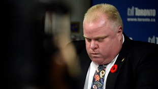 Mayor Rob Ford says 'I feel like I got 1,000 pounds off my back'.