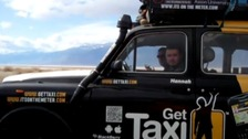 A Staffordshire man and two friends took a taxi ride round the world t raise moneu for the Red Cross