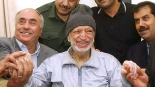 Yasser Arafat shortly before he was flown to Paris.