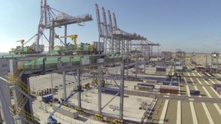Containers will be transported to and from the port by road and rail