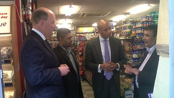 RBS boss and Chuka Umunna in south London