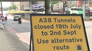 The A38 tunnels, closed for much of the summer, could be closed permanently