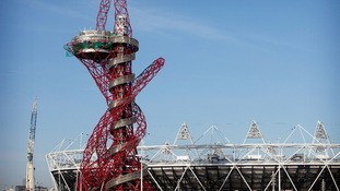 'The Orbit' tower in front of the Olympic Stadium