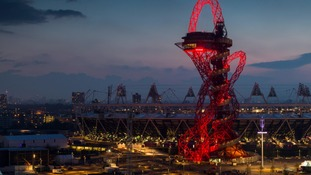 The ArcelorMittal Orbit at dusk