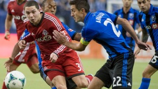 Ephraim, pictured left, has recently returned from a spell in the MLS with Toronto FC.