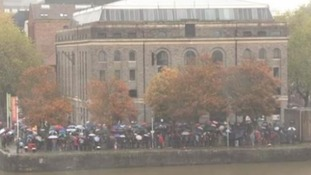 Crowds braved the rain at the Bristol auditions for a 'major movie' said to be the new Star Wars film
