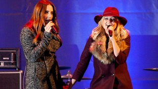 Former Spice Girls Melanie Chisholm and Emma Bunton during the Christmas lights switch on event on Regent Street, London.