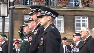 Police pay their respects in Norwich