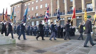 Remembrance service in Norwich