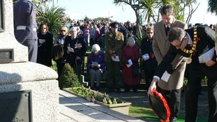 Wreaths are laid at the Memorial Gardens in Clacton