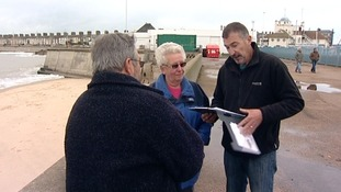 Gathering signatures in support of Pier Pressure's petition