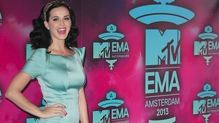 Katy Perry arrives at the 2013 MTV Europe Music Awards.
