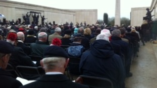 Crowds gather at the National Memorial Arboretum in Staffordshire
