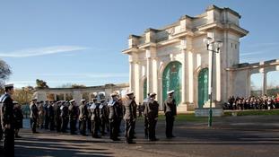 Remembrance service at Victoria Embankment, Nottingham