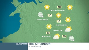 TUESDAY'S WEST MIDLANDS FORECAST