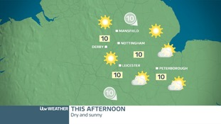 EAST MIDLANDS TUESDAY FORECAST