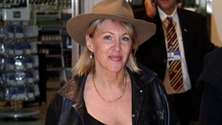 Conservative MP Nadine Dorries pictured at the airport on her way back from Australia last year.