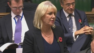 Conservative MP Nadine Dorries  pictured making a statement to the Commons.