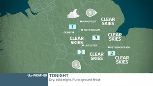 TONIGHT EAST MIDLANDS: Dry and cold