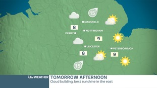 EAST MIDLANDS WEDNESDAY: Sunny start, cloudier afternoon