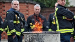 Firefighters will be striking for four hours today over pensions