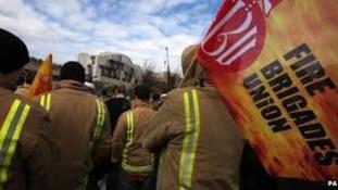 Striking firefighters