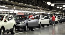 Workers at Nissan working on the Qashqai at the Nissan factory in Sunderland