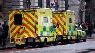London Ambulance vans.