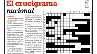 Pro-opposition newspaper Tal Cual lampooned the Chavez government in a front-page crossword