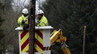 BT workers are aiming to restore phone services as soon as possible.