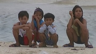 Children from Bantayan Island in the southern Philippines