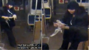 The woman boarded the Chicago train around 2.17am on 1 November.